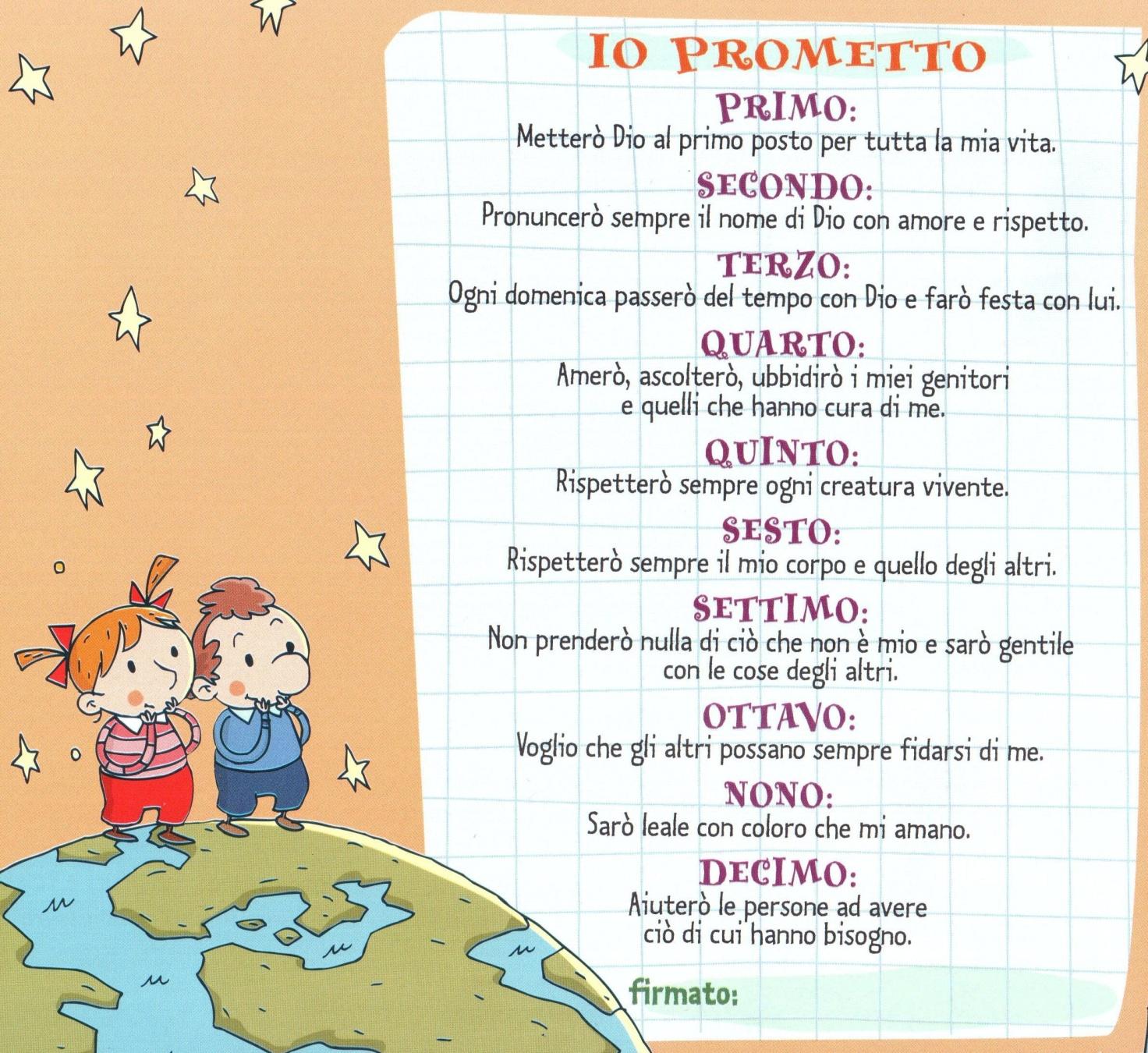 Favorito Dieci comandamenti | Betania's Bar QD43