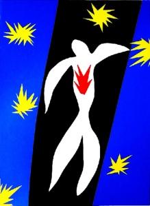 "Hanri Matisse ""la caduta di Icaro"" (1944 - 47)"