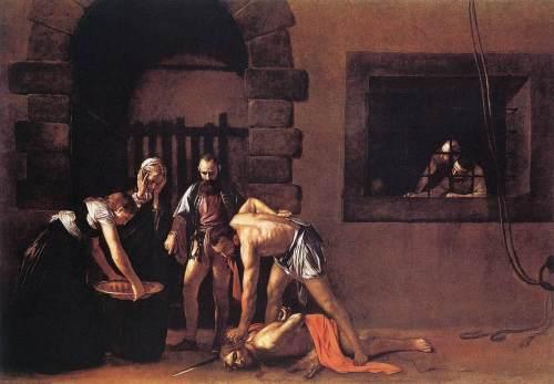 """Caravaggio """"La decollazione di San Giovanni Battista"""" (1608) La Valletta - Malta   (clicca sull'immagine per ingrandire)"""