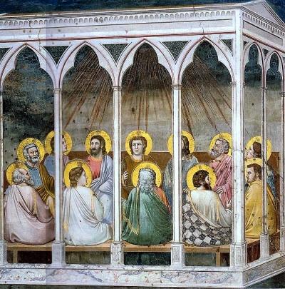 """""""Pentecoste"""" Giotto. Cappella degli Scrovegni - Padova"""