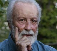 20/08/2013 Velletri, Eugenio Scalfari nel giardino della sua casa di campagna