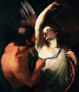 """Andrea Sacchi """"Dedalo e Icaro"""" 1640-50. Gall. Doria Pamphilij Roma"""