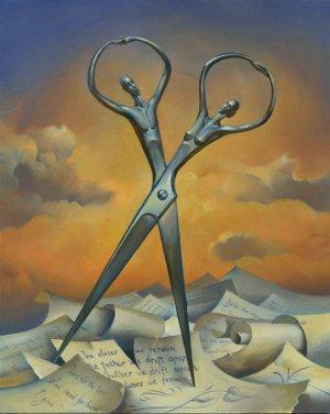 """Wladimir Kush """"Always together"""" 2009 olio su tela - Maui Hawaii U.S.A."""