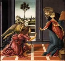 """Sandro Botticelli """"Annunciazione di Cestello"""" 1489 - 90. Uffizi"""