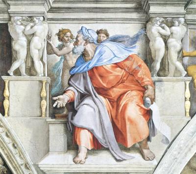 "Michelangelo ""Ezechiele"" Cappella Sistina"