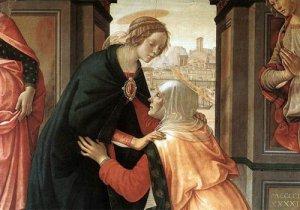 """Domenico Ghirlandaio """"Visitazione"""" 1491 - Louvre"""