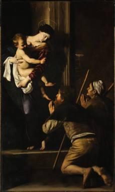 """Caravaggio """"Madonna di Loreto"""" o """"dei pellegrini"""" 1604/06 - Roma (clicca per ingrandire)"""