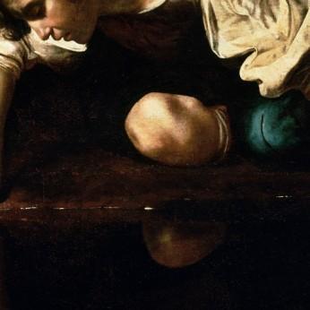 Caravaggio (?) Narciso. 1597-99 - Roma - clicca per ingrandire