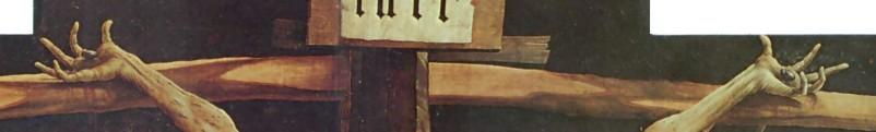 """Matthias Grunewald """"Crocifissione"""" Musée d'Unterlinden, Colmar - 1512/16 (part.)"""