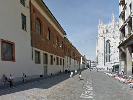 """La """"nuova"""" via Carlo Maria Martini"""" a Milano."""