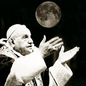 La carezza del Papa Buono nel discorso alla luna.