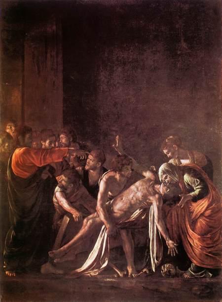"""Caravaggio """"Resurrezione di Lazzaro"""" 1609 - Messina"""
