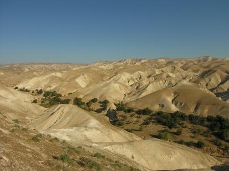 Il deserto di Giuda in Palestina.