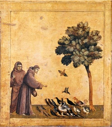 """Giotto da """"La stigmate di san Francesco"""" (part.) 1295-1300 al Louvre"""