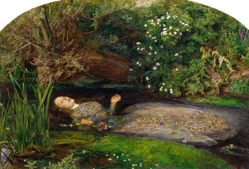 "John Everett Millais ""Ophelia"" 1852 - Tate Gallery - Londra (clicca sull'immagine per ingrandire a dismisura)"