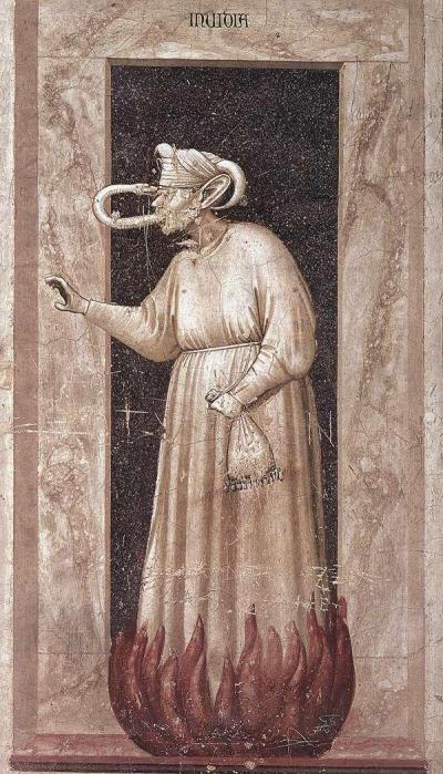 """Giotto """"Allegoria dell'invidia"""" agli Scrovegni - 1306 -"""