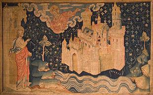 La nuova Gerusalemme in un arazzo francese del XIV secolo.