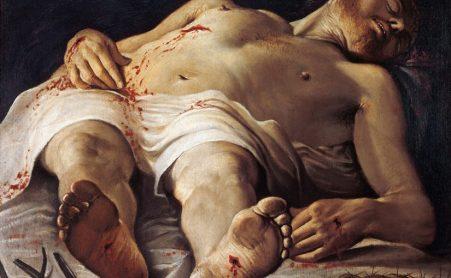 """Annibale Carracci """"Cristo morto e strumenti della Passione"""" 1583-85, Staatsgalerie Stoccarda"""
