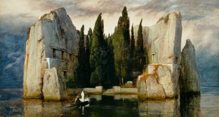 """Arnold Bocklin """"La terza versione dell'isola dei Morti"""", 1883"""