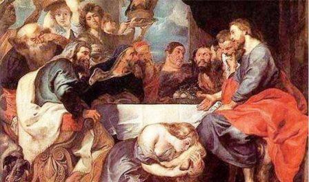L'episodio, narrato da Luca (Lc 7,36-50), della peccatrice che bacia i piedi a Gesù