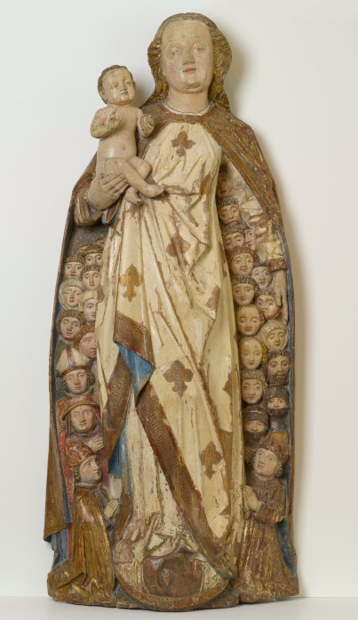 """Peter Koellin """"Madonna and Child sheltering supplicants under Her Cloack"""" 1470. North Carolina Museum of Art"""