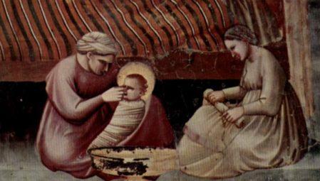 """Giotto """"Natività di Maria"""" (part.)"""