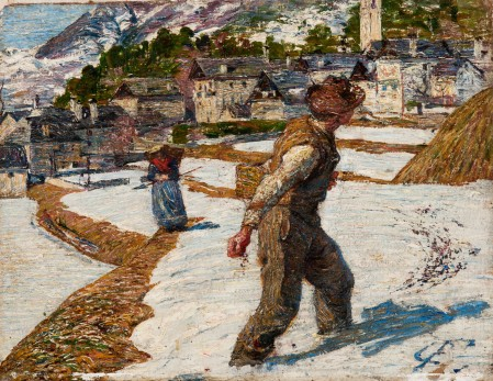"""Carlo Fornara """"Il seminatore"""" - 1895. Tortona"""