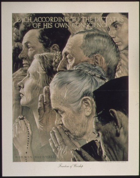 "Norman Rockwell: ""Freedom from worship"""