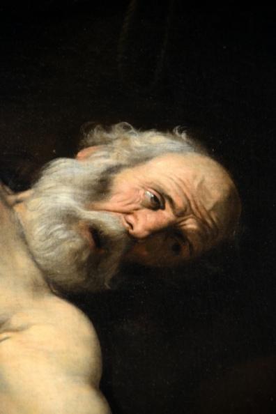"""Caravaggio """"Crocefissione di Pietro"""" - cappella Cerasi"""