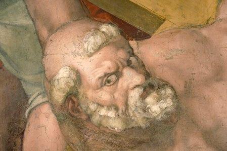 """Michelangelo """"Crocefissione di Pietro"""" - Cappella Paolina"""