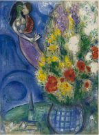 Marc Chagall Pair of Lovers and Flowers Color lithograph, 1949, 555 x 410 Gift of Ida Chagall, Paris M408-5-51