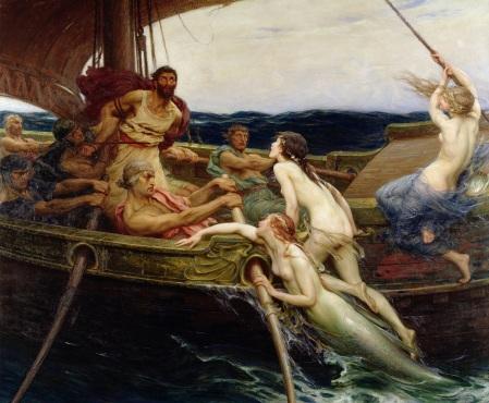 """Herbert James Draper """"Ulisse e le sirene"""", 1909 Ferens Art Gallery, Hull Museums, UK"""