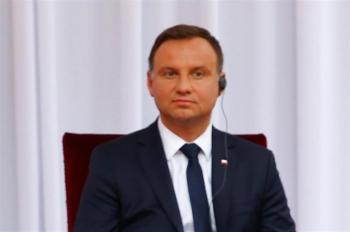 Il presidente polacco Andrezj Duda (foto Lapresse)