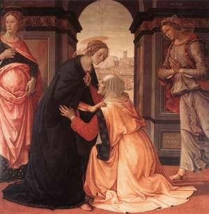 """Domenico Ghirlandaio """"Visitazione"""" - 1491 - Louvre"""