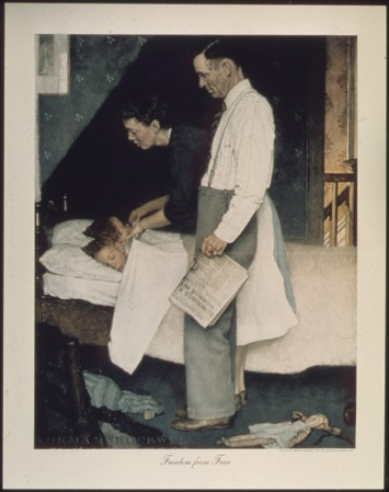 """Norman Rockwell """"Freedom from fear"""""""