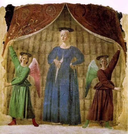 """Piero della Francesca """"La Madonna del Parto"""" 1455 - Monterchi"""
