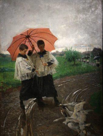 """Mosè Bianchi """"Il ritorno dalla sagra"""" 1880"""