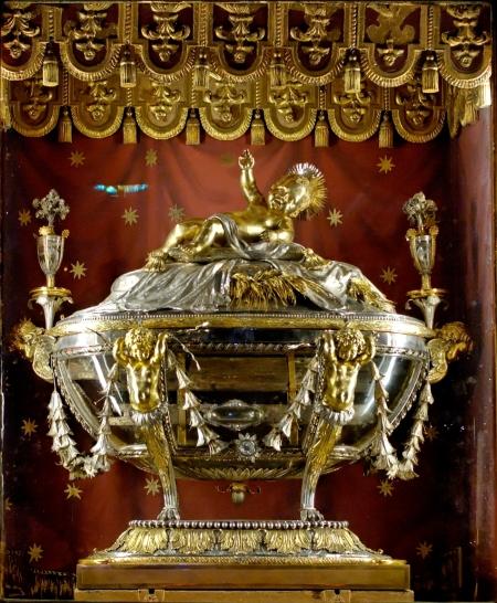 """La reliquia della """"sacra Culla"""", che rimanda alla mangiatoia in cuui nacque Gesù, è conservata nella Basilica di Santa Maria Maggiore."""