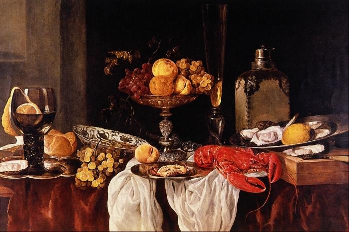 """Abraham van Beyeren """"Still Life"""" 1660 - Vienna"""